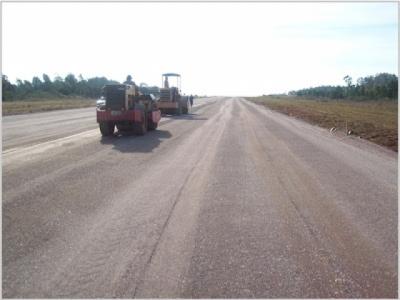 Atualmente 70%  da pista já estão concluídos. Foto: Divulgação